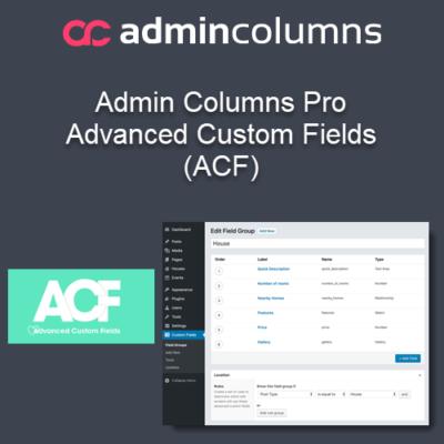 Admin Columns Pro Advanced Custom Fields (ACF)