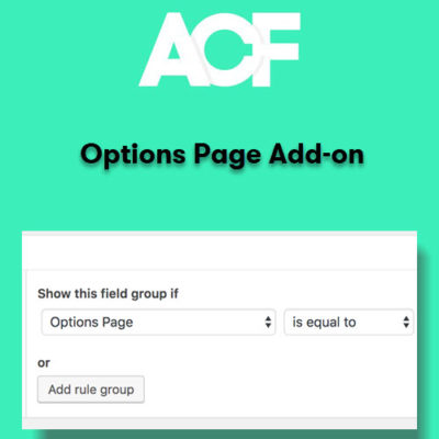 Advanced Custom Fields Options Page Addon