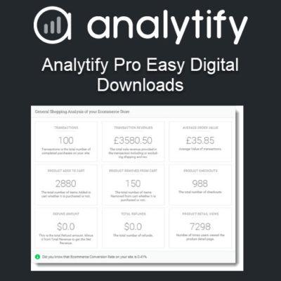 Analytify Pro Easy Digital Downloads