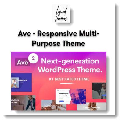 Ave - Responsive Multi-Purpose Theme