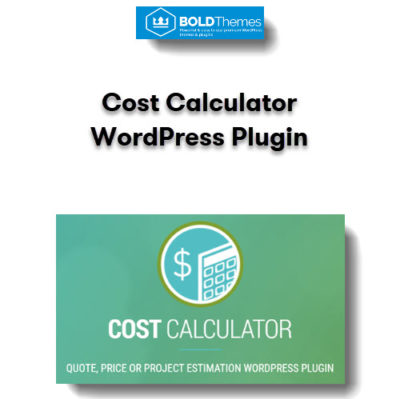 Cost Calculator WordPress Plugin