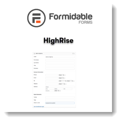 Formidable Forms – Highrise CRM