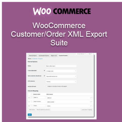 WooCommerce Customer & Order XML Export Suite