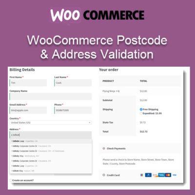 WooCommerce Postcode & Address Validation
