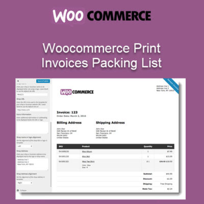 Woocommerce Print Invoices Packing List