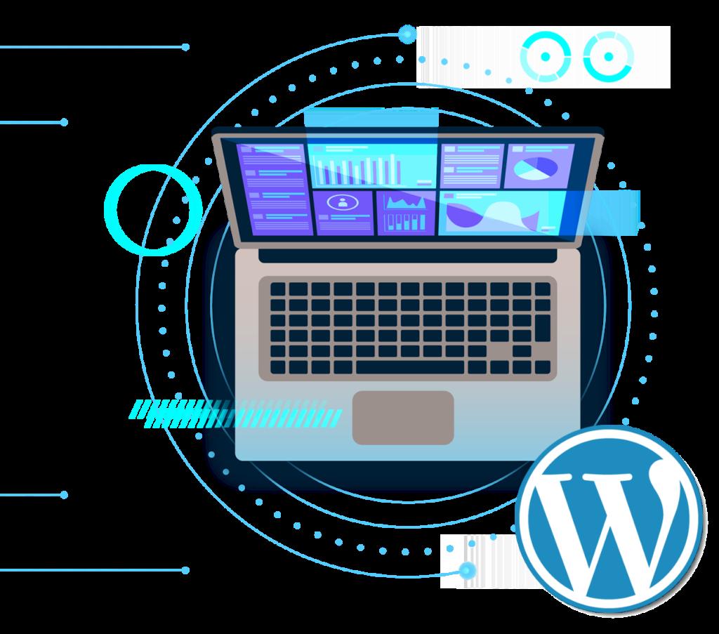 DGtise Affordable website design Bristol WordPress development laptop